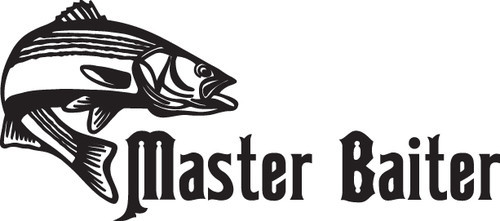 FISH DECAL #FH2/275 MASTER BAITER BASS LURE CATCH ROD REEL POLE FLY CAR TRUCK