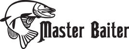 Fish Decal #Fh2/276 Master Baiter Pike Lure Rod Reel Rod Car Truck Auto Suv Van - $24.00