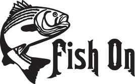 Fish Decal #Fh2/285 Fish On Bass Rod Reel Lure Line Worm Car Truck Auto Suv Van - $15.00