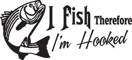 Fish Decal #Fh2/289 I Fish I'm Hooked Bass Fly Worm Rod Reel Car Truck Auto Suv - $27.00