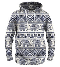 Elephants Pattern Printed Hoodie | Unisex | XS-2XL | Mr.Gugu & Miss Go