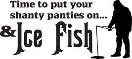 Fish Decal #Fh2/30 Ice Fishing Shanty Panties Rod Reel Pole Bass Car Truck Car - $13.75