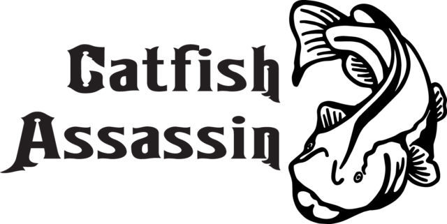 FISH DECAL #FH2/39 CATFISH ASSASSIN POLE ROD REEL LURE HOOK CAR TRUCK AUTO SUV