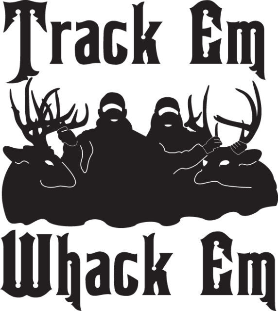 HUNT DECAL #1/121 TRACK WHACK RIFLE DEER ELK MOOSE HORNS RACK CAR TRUCK AUTO
