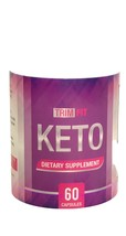 TRIM FIT KETO 60 CAPSULES 1 MTH SUPPLY BHB Real Keto Salts Advanced Weig... - $12.86