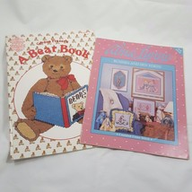 Cross Stitch Pattern Book Lot Bears Bunnies & Sew Forth Nursery Art Char... - $14.94