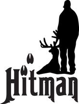 Hunt Decal #Ht1/150 Hitman Deer Tracks Antler Elk Shoot Rifle Car Truck Auto Suv - $14.75