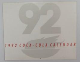 Coca-Cola 1992 Calendar - New Free Shipping - $10.15