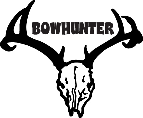 HUNT DECAL #HT1/232 DEER BOWHUNTER ARROW STRING CROSS ANTLERS CAR TRUCK AUTO RV