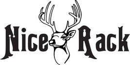 HUNT DECAL #HT2/220 NICE RACK HORNS DEER BOW ARROW RIFLE CAR TRUCK AUTO ... - $14.00