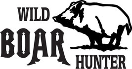 HUNT DECAL #HT2/252  WILD BOAR HUNTER GRAPHIC P... - $15.00