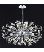 "CRYSTAL & CHROME, ""Sputnik"" STYLE, 44 Light Chandelier, Mid Century Mode... - $3,090.00"