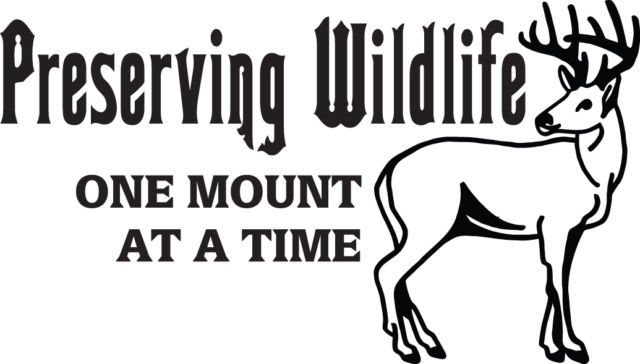 HUNT DECAL #HT3/108 PRESERVING WILDLIFE ONE MOUNT AT A TIME DEER CAR TRUCK AUTO