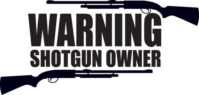 HUNT DECAL #HT3/195 WARNING SHOTGUN OWNER RIFLE MUZZLE LOADER CAR TRUCK AUTO
