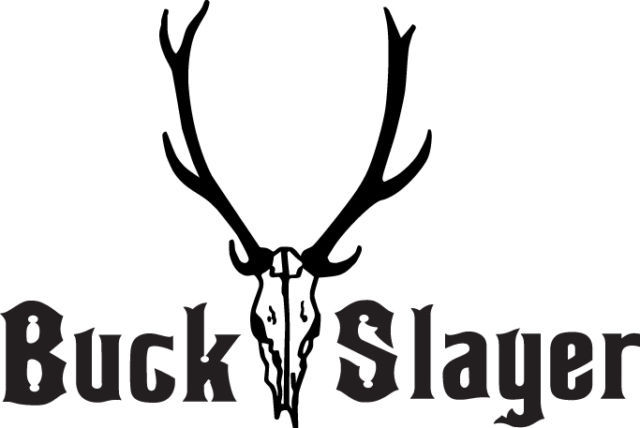 HUNT DECAL #HT3/197 BUCK SLAYER DEER SKULL ANTLERS HORNS CAR TRUCK AUTO SUV VAN