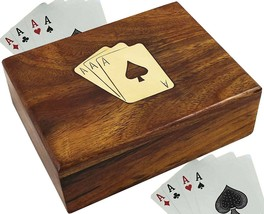 SKAVIJ Wooden Playing Card Holder 1 Deck Case For Playing Or Poker Cards... - $35.41