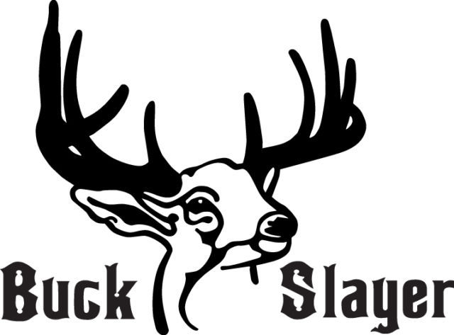 HUNT DECAL #HT3/205 BUCK SLAYER ANTLERS HORNS RIFLE  AMMO BOW ARROW CAR TRUCK RV