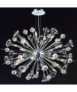 "CRYSTAL & CHROME, ""Sputnik"" STYLE, 24 Light Chandelier, Mid Century Mode... - $1,990.00"