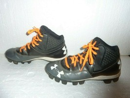 Boys Under Armour 6.5 Youth Black Baseball Cleats Used - $8.79