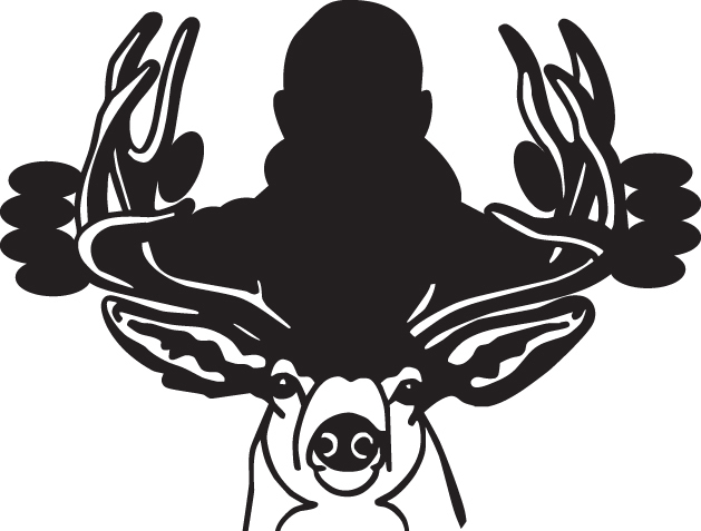 HUNT DECAL #HT4/13 DEER ANTLERS SHOOT RIFLE ARROW  CAR TRUCK AUTO SUV VAN BOW