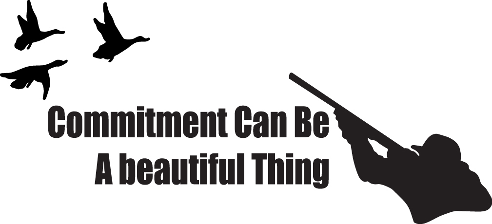 HUNT DECAL #HT4/160 COMMITMENT BEAUTIFUL THING GEESE DUCK FLY SHOOT CAR TRUCK