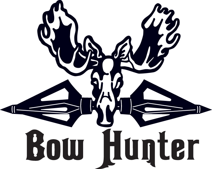HUNT DECAL #HT4/178 BOW HUNTER MOOSE ARCHERY ARROW  SHOOT CAR TRUCK AUTO SUV VAN