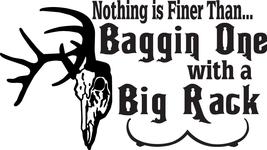 HUNT DECAL #HT4/218 BAGGIN ONE WITH BIG RACK BUCK DEER SHOOT BOOBS CAR T... - $24.00