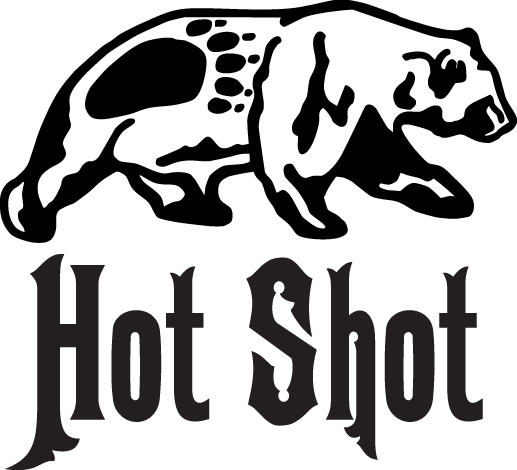 HUNT DECAL #HT4/93 HOT SHOT BEAR TRACK RIFLE TRAP SHOOT CAT RUCK AUTO SUV VAN