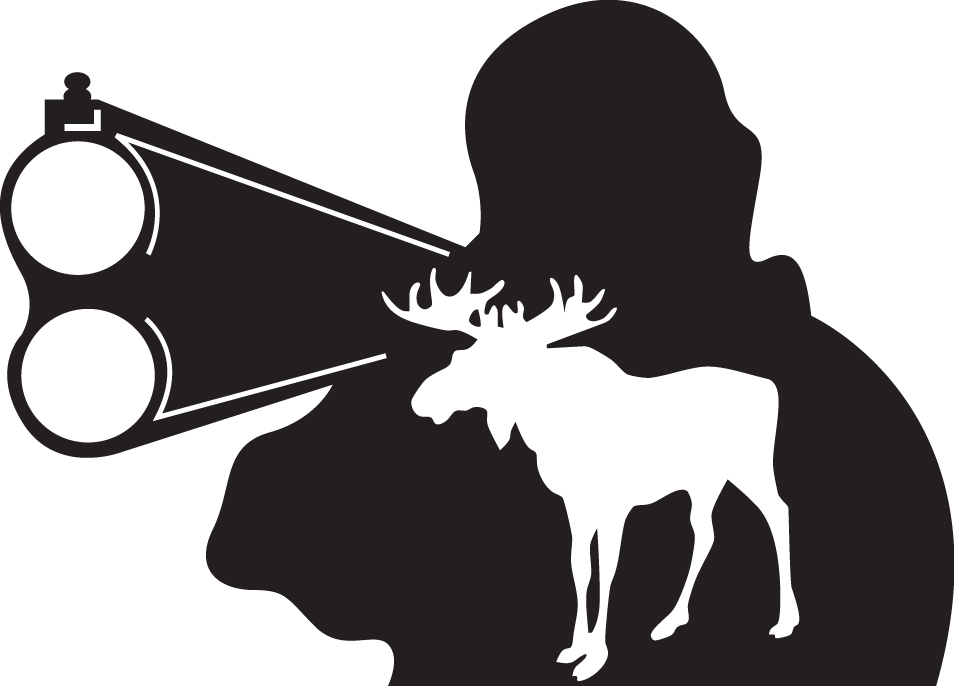 HUNT DECAL #HT5/178 MOOSE ANTLERS MAN NATURE SHOOT MEAT GUN CAR TRUCK AUTO SUV