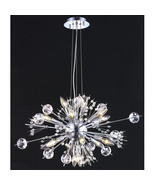 "CRYSTAL & CHROME, ""Sputnik"" STYLE, 22 Light Chandelier, Mid Century Mode... - $1,050.00"