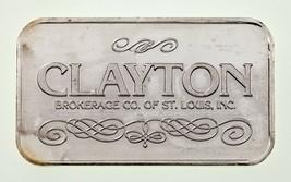 Clayton Brokerage Co.1 Oz. Argento Barretta Di Tri-Stato Raffinazione Az... - $95.04