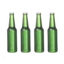 DOLLHOUSE MINIATURES 4PC GLASS BEER BOTTLES SET #G7544 - $3.50