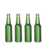 DOLLHOUSE MINIATURES 4PC GLASS BEER BOTTLES SET #G7544 - $3.50