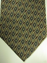 GORGEOUS Jhane Barnes Made in Japan Blue Gold and Red Geometric Silk Tie - $22.49