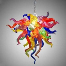 Handmade blown glass chandelier Multicolor, Murano Glass Chandelier for ... - $899.47+