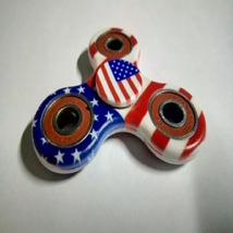 USA American Flag Fidget Spinner EDC Torqbar Toys - 1x w/Random Color and Design image 3