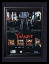 Yakuza 2006 PS2 Framed 11x14 ORIGINAL Vintage Advertisement  - $32.36