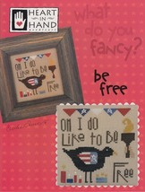 Fancy: Be Free patriotic cross stitch chart Heart in Hand - $7.20