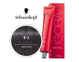 Schwarzkopf Royal Igora Permanent Color Ash E-1   - $19.95+
