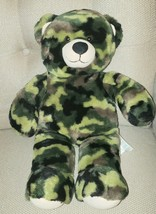 "Build a Bear 16"" Camo Camouflage Teddy Bear Military  stuffed Plush Retired - $12.86"