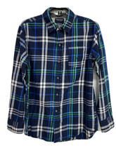 Nautica youth boys shirt plaid long sleeve button front size L/G 14-16 - $16.38