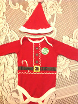 Baby Santa Outfit 2pc Sz 3 - 6 Mth Long Sleeve Santa Claus With Hat Boy ... - $14.84