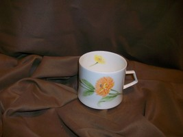 MIKASA NATURE'S GARDEN CALENDULA TEACUP OCTOBER BIRTHDAY FLOWER NARUMI J... - $12.86