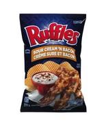1 Bag Ruffles Sour Cream 'N Bacon Potato Chips 220g Canada FRESH & DELICIOUS! - $13.32