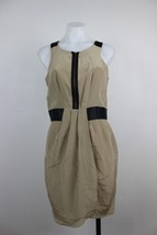 Cynthia Steffe Dress Size 6 Silk Faux Wrap Pleated Zipper Front Sleevele... - $11.99