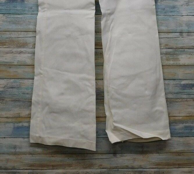 Express Editor Dress Pants 6 x 32 Women's White Straight Stretch          (D-85) image 4