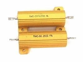 LOT OF 16 NEW DALE TMC-50.25 RESISTORS TMC5025, 50 WATT, .25 OHM 1%, TMC50 0.25