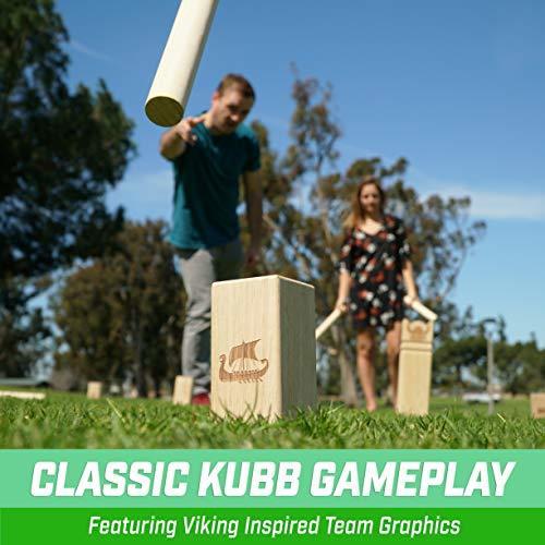 GoSports Regulation Kubb Viking Clash Toss Game Set for Kids & Adults