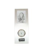 "Staples Streamlined Vintage Y2K Frame Clock Silvertone  2 X 3"" Photo 7 1... - $9.99"