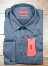 Hugo Boss Mens George Regular Fit French Cuff Easy Iron Cotton Dress Shi... - $68.66